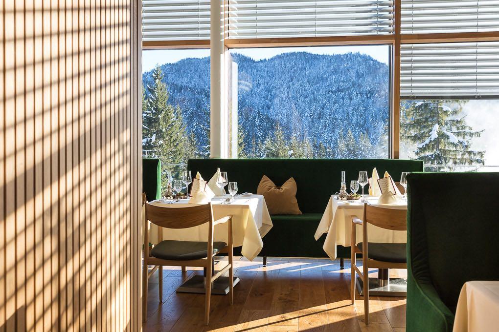 Speisesaal Das Kranzbach Hotelfotografie Anneliese Kompatscher