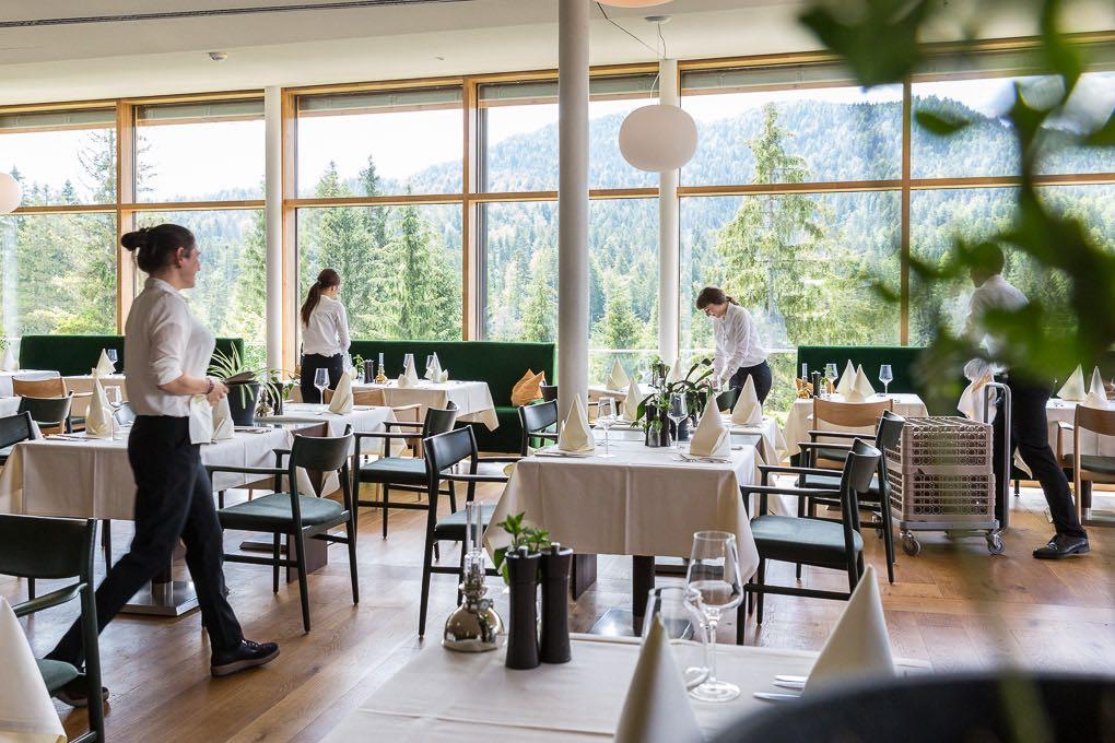 Speisesaal im Hotel Kranzbach